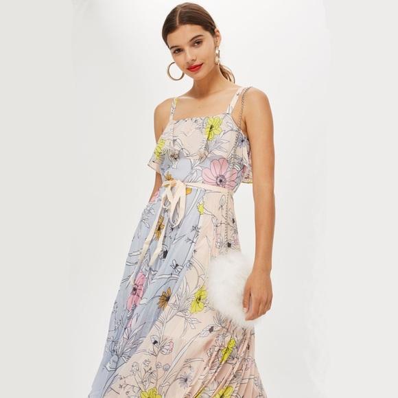 17133d51bf96 Topshop Dresses | Pastel Pleated Midi Dress | Poshmark